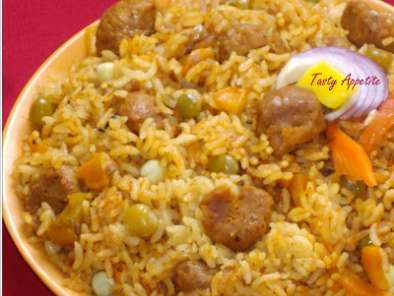 Recipe Soya chunks biryani