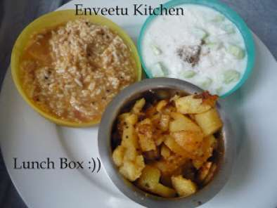 Recipe A typical south-indian lunch box