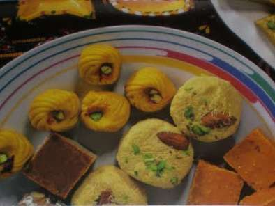 Recipe Pineapple mawa barfi, chocolate barfi, sandesh & chocolate fudge