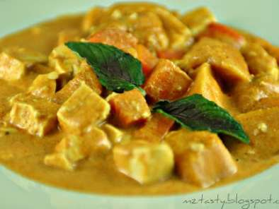 Recipe Pumpkin curry with beancurd/tofu
