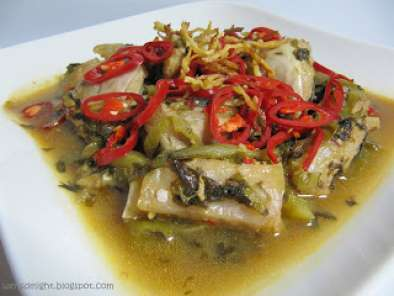 Recipe Stingray with salted vegetables