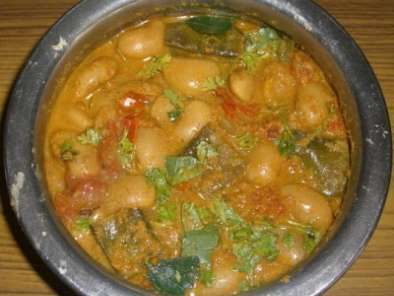 Recipe Double beans/ lima beans curry
