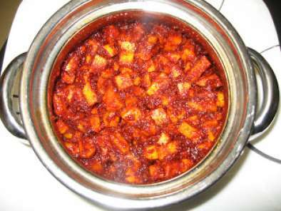 Recipe Mamidikaaya menthi baddalu(quick raw mango pickle)