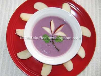 Recipe Apple and red cabbage soup