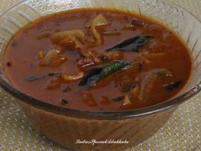 Recipe Varutharacha koondhal curry (squid curry)