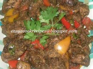 Recipe Capsicum flavoured chicken liver gravy