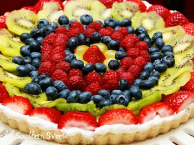 Recipe Fresh fruit tart & a le creuset giveaway!!!
