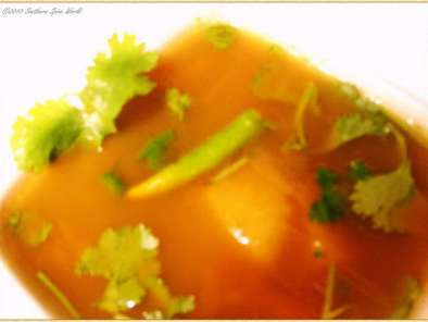 Recipe Comfort food series: fruity, light and flavorful south indian style soup(rasam)