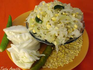 Recipe Gosumalli: (cabbage moongdal treat)