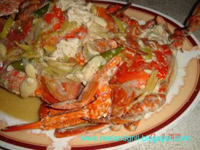 Recipe Ginataang alimasag (blue crabs or sea crabs cooked in coconut milk)