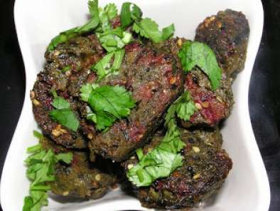 Recipe Beet greens muthia with buckwheat flour