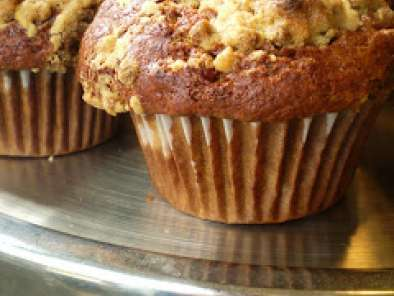 Recipe Vegan apple butter and bran bud muffins with vegan bran bud streusel