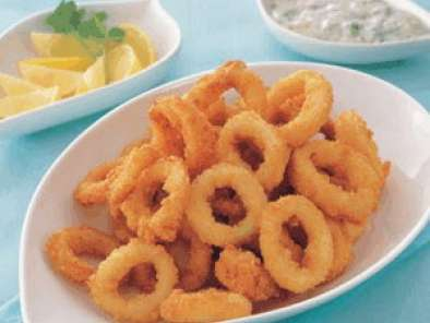 Recipe Fried squid rings with maggi coating mix