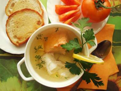 Recipe Red&white ukha (russian fish soup)