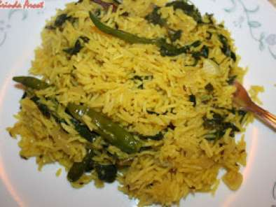 Recipe Methi rice / vendi kirai rice