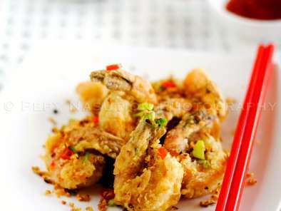Recipe Deep fried shrimp ala bie fong tong - super duper garlicky deep fried shrimp