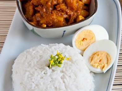 Recipe Chicken and potato curry with rice