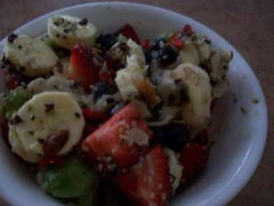Recipe Fresh fruit salad with custard apple fruit