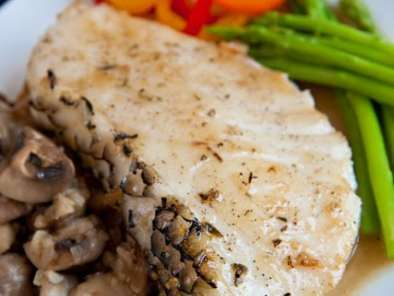 Recipe Pan-fried cod fish with butter sauce
