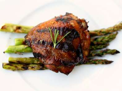 Recipe Lemon, rosemary and balsamic grilled chicken thighs