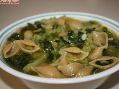 Recipe Spinach and cabbage soup