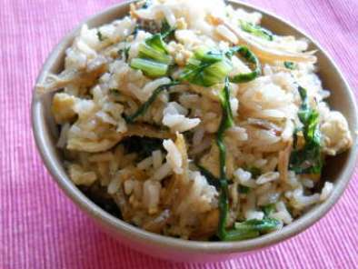 Recipe Nasi goreng ikan bilis (fried rice with anchovies)