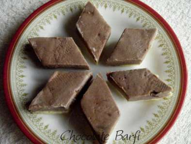 Recipe Chocolate barfi ~ to celebrate!!