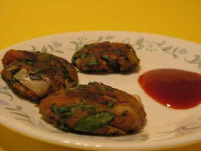 Recipe Aloo palak patties (potato spinach patties)