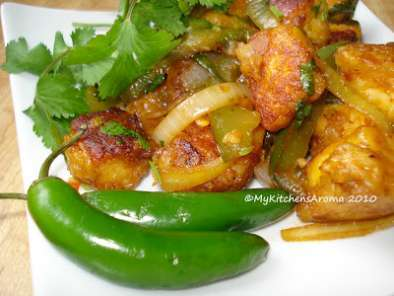 Recipe appetizers - paneer chili fry/ paneer fish pickle