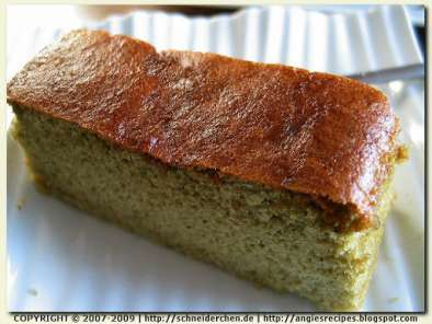 Recipe Matcha kasutera honey sponge cake