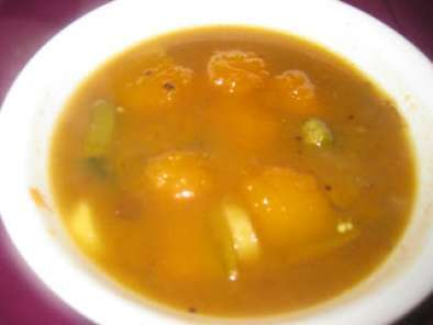 Recipe Mukkala pulusu (bellam pulusu) sweet tangy vegetables stew