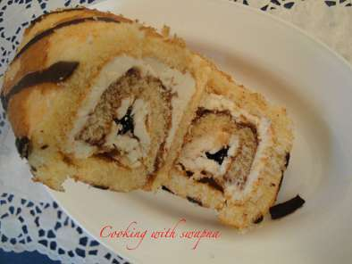 Recipe Baked roly poly swiss cake