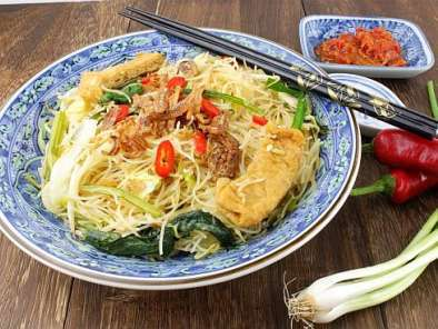 Recipe Simple fried beehoon (rice vermicelli)