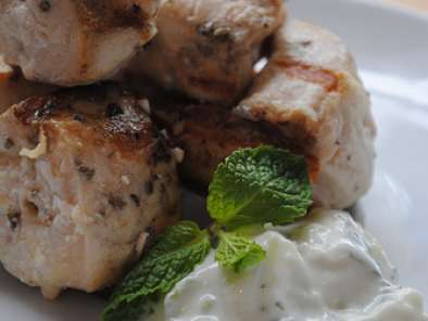 Recipe Authentic greek chicken souvlaki