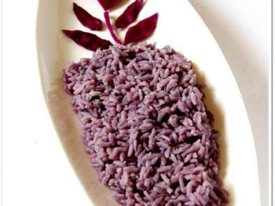 Recipe Color mania #1: purple cabbage rice