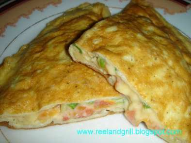 Recipe Tomato and cheese omelette