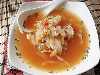 Recipe Cabbage and tomato soup or cabbage stir-fry