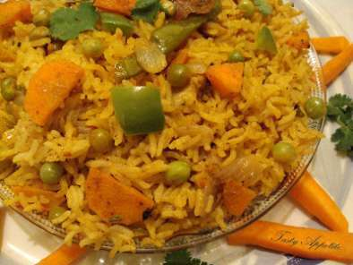 Recipe Carrot peas biryani