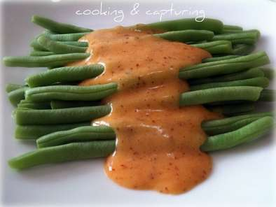 Recipe Steamed green beans with hollandaise sauce