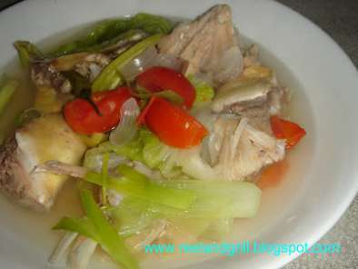 Recipe Tinowa or tola - tinolang talakitok (trevally stew in lemon grass, tomatoes & chilies)