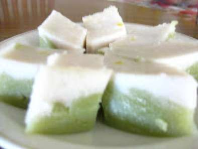 Recipe Kuih talam (steam pandan layered cake)