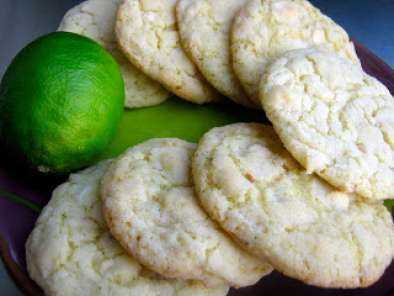Recipe Lime and coconut cookies with white chocolate chips
