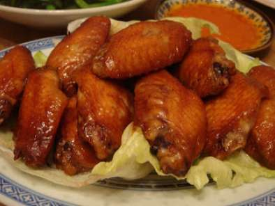 Recipe Baked chicken midwings in hoisin & char siew sauce