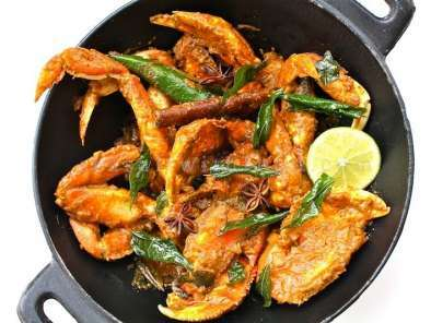 Recipe Malaysian dry curry crabs