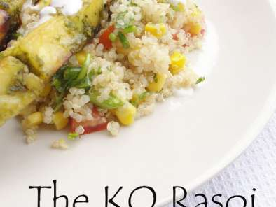 Recipe Coriander and lime paneer kebabs and summer quinoa salad