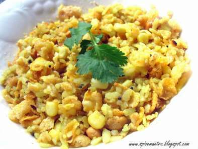 Recipe Chatpata corn-poha chaat (corn and beaten rice chaat recipe)