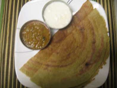 Recipe Ridge gourd peel-barley-moong dosa/crepe (healthy and fatfree crepes)