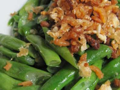 Recipe Stir fry french bean with preserved radish & dried shrimp