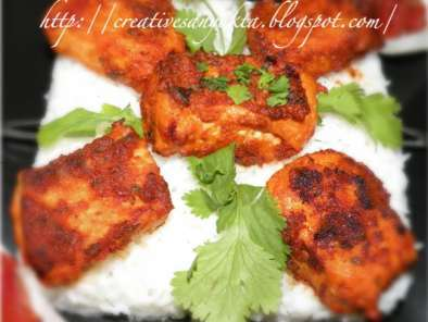 Recipe Tandoori paneer with a twist. spicy thai/indian paneer tikka