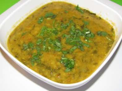 Recipe Palak methi dal (spinach fenugreek lentil)